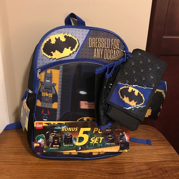 99d890a56cbc LEGO Batman 5 Piece Backpack Set NWT